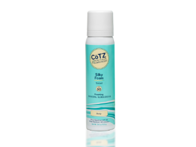 CoTZ Silky Foam SPF30 Mineral Sunscreen, Tinted, 3.5 oz