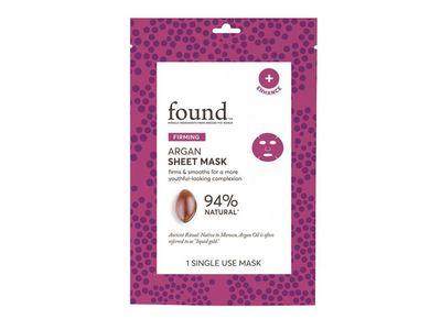 Found Firming Sheet Mask, Argan, 1 ct