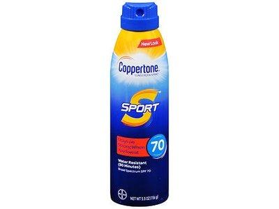 Coppertone Sport Sunscreen Spray, SPF 70, 5.5 oz/156 g
