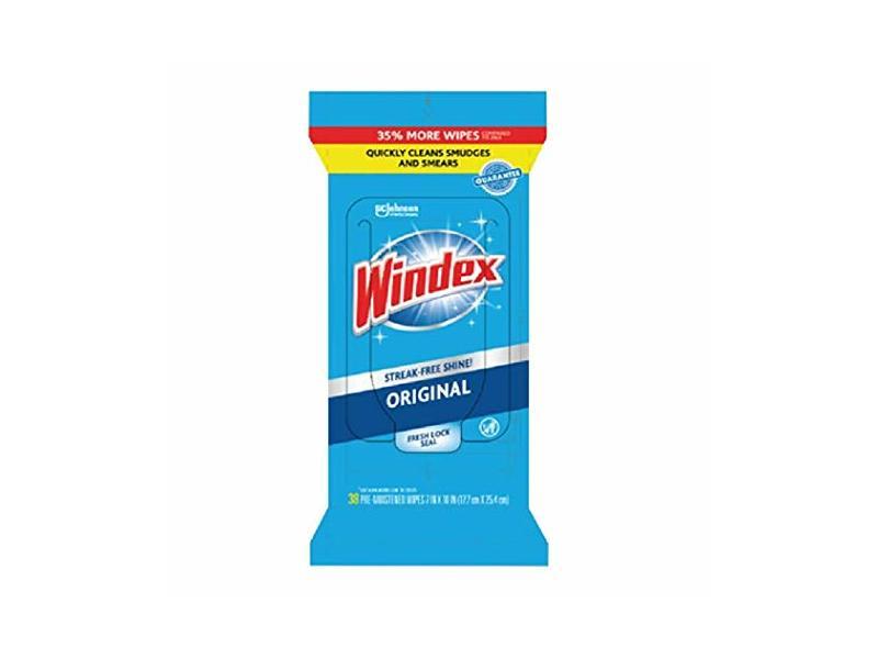 Windex Original Glass Wipes, 38 count