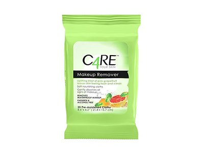 Care4 Pink Grapefruit Makeup Remover Wipes, 25 count