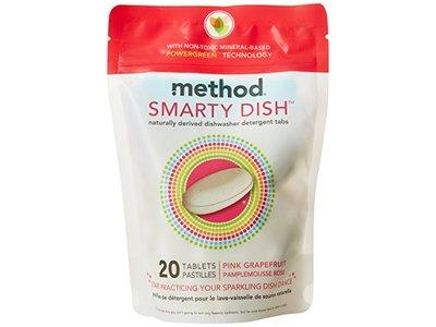 Method Smarty Dish Dishwasher Tablets, Pink Grapefruit, 20 Count - Image 1