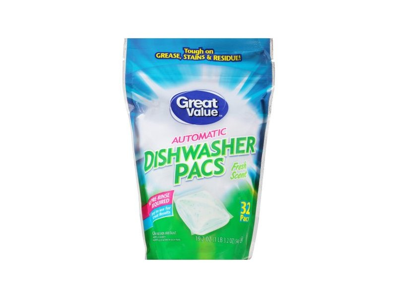 Great Value Automatic Dishwasher Pacs