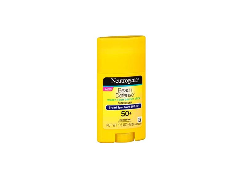 Neutrogena Beach Defense Water + Sun Barrier Stick Sunscreen, SPF50+, 1.5 oz (Pack of 2)