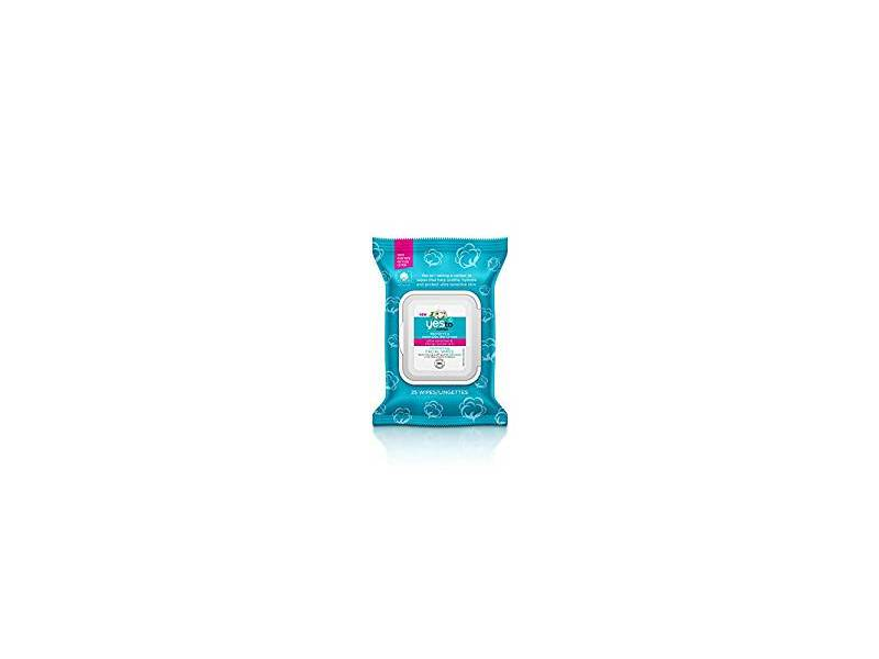 Yes to Cotton Comforting Facial Wipes, 25 ct