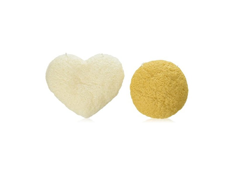 Andalou Naturals Clarity Konjac Facial Duo Sponge, 2 Count