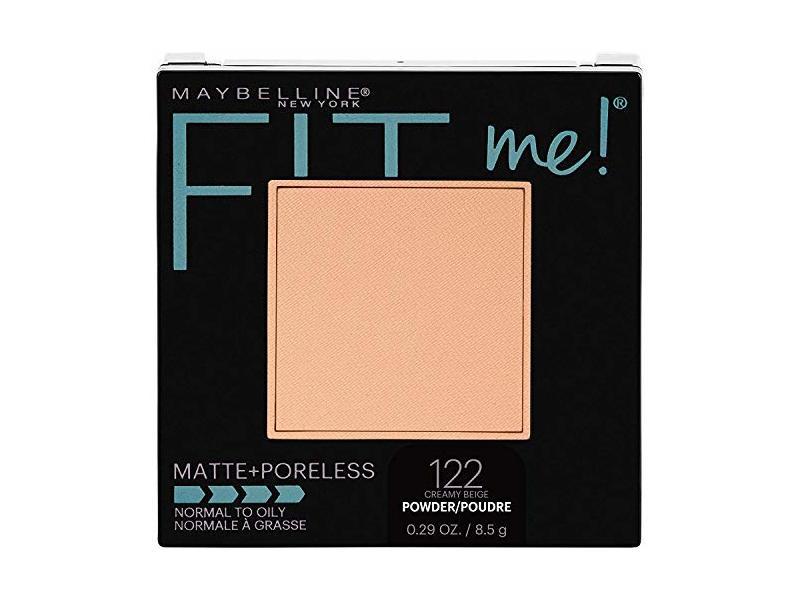Maybelline New York Fit Me! Matte + Poreless Foundation Powder, 122 Creamy Beige, 0.29 oz / 8.5 g
