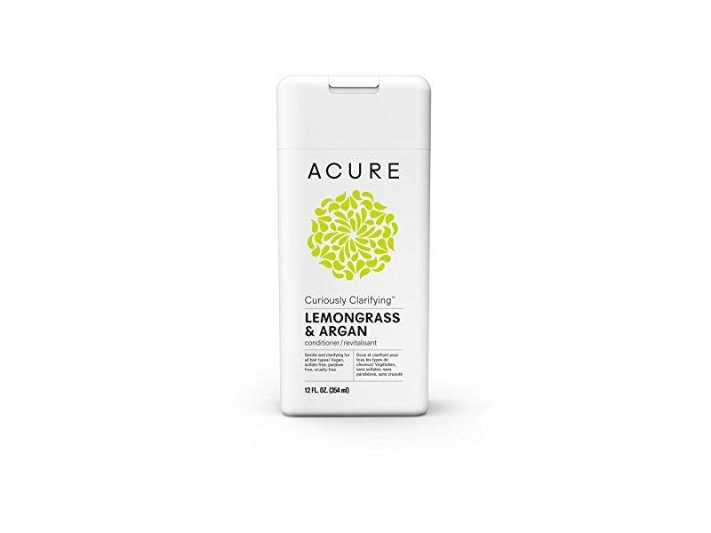 Acure Curiously Clarifying Lemongrass Conditioner, 12 Fluid Ounces