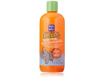 Kiss My Face Natural Kids Orange U Smart Bubble Wash, 12 Ounce Bottle