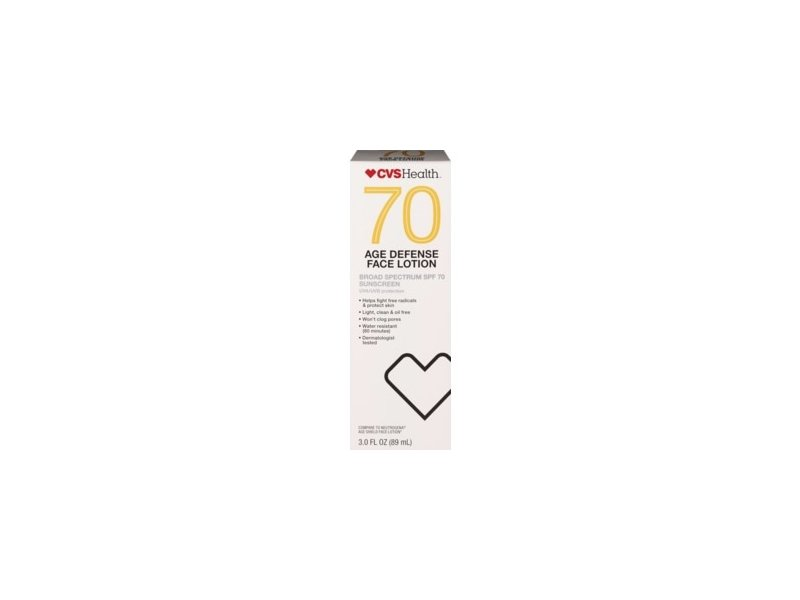 CVS Health Age Defense Broad Spectrum SPF 70 Face Lotion