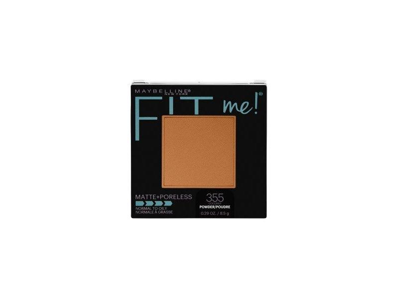 Maybelline Fit Me! Matte + Poreless Foundation Powder, 355 Coconut, 0.29 oz/8.5 g, Pack Of 2