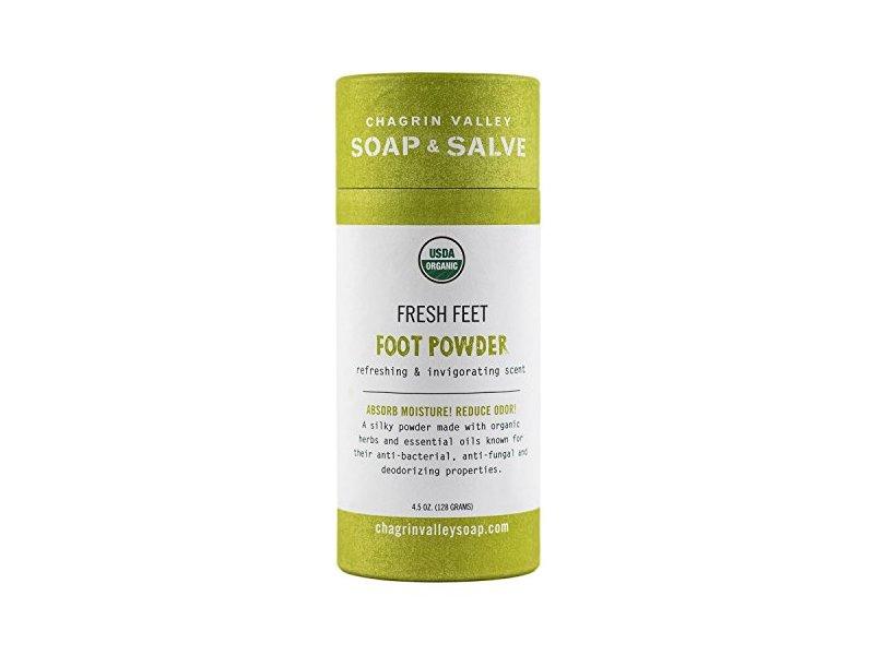 Chagrin Valley Soap & Salve Fresh Feet Foot Powder, 4.5 oz
