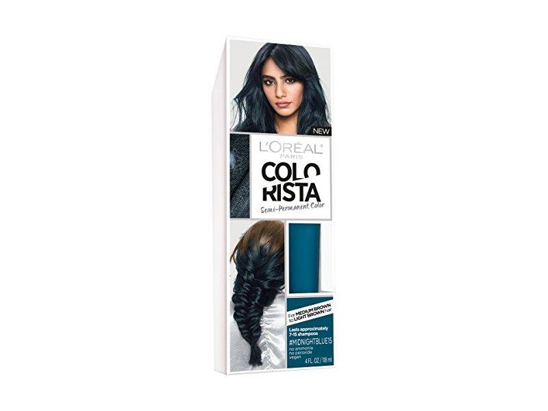 L'Oreal Paris Hair Color Colorista Semi-Permanent for Brunette Hair, Midnightblue, 4 fl oz