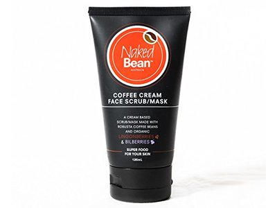 Naked Bean Coffee Cream Face Scrub Mask 125ml