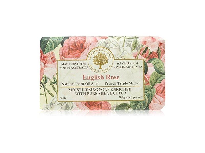 Wavertree & London English Rose Luxury Soap, 7 Oz