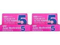 Rugby Clear up Acne Medication, Benzoyl Peroxide Gel USP 5%, 1.5 oz (2 tubes) - Image 2