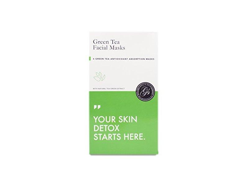 Grace & Stella Co. Full Face Essence Facial Sheet Masks, Green Tea