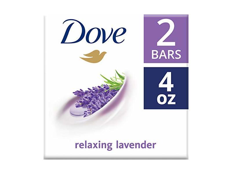 Dove Relaxing Lavender Beauty Bar, 4 oz (2 bars)