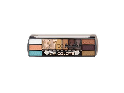 L.A. Colors Day to Night Eyeshadow Palette, CES 425 Sunset, 0.28 oz