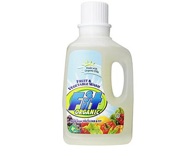Fit Organic Fruit And Vegetable Wash 12-Ounce Spray Bottle, 64oz Refill Bottle