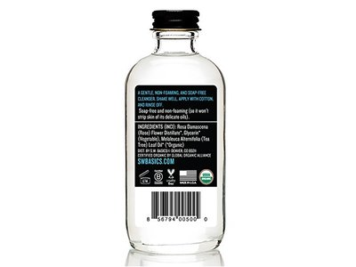 S.W. Basics Cleanser (4.0 fl. oz.) - Natural Rosewater and Tea Tree Oil Face Wash - Image 3