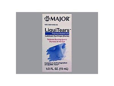 Major LiquiTears Lubricant Eye Drops - (15ml) 0.5 oz