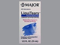 Major LiquiTears Lubricant Eye Drops - (15ml) 0.5 oz - Image 2