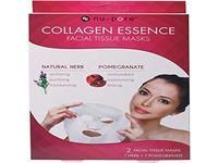 Nu-Pore Collagen Essence Facial Tissue Masks, Natural Herb & Pomegranate - Image 2