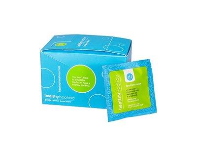 healthyhoohoo All Natural Gentle Feminine Wipes Individually Wrapped (Pack of 20)