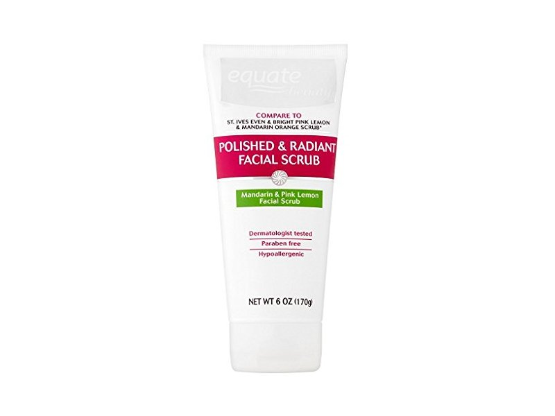 Equate Beauty Polished & Radiant Mandarin & Pink Lemon Facial Scrub, 6 oz