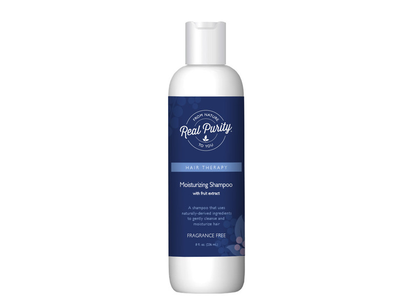 Real Purity Moisturizing Shampoo, Fragrance Free, 8 fl oz