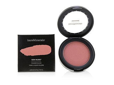 BareMinerals Gen Nude Powder Blush, On The Mauve, 0.21 oz