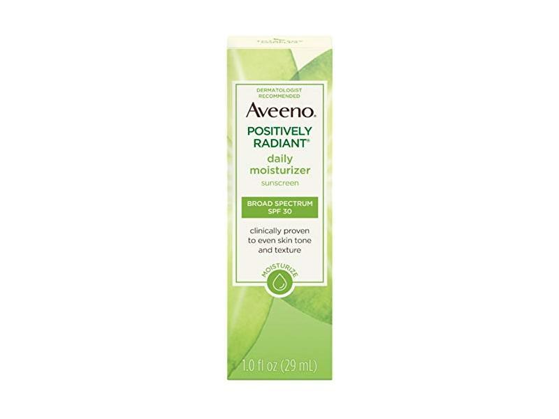 Aveeno Positively Radiant Daily Moisturizer Broad Spectrum SPF 30, 1 fl oz