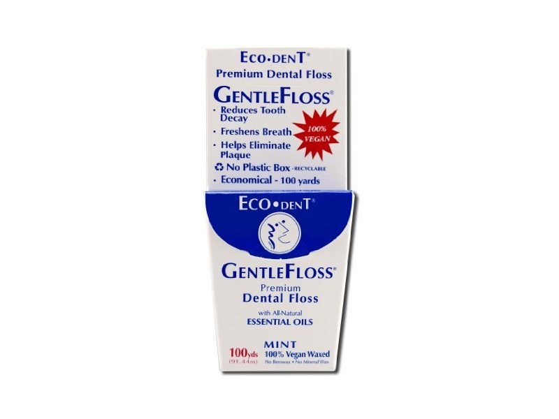 Eco Dent Dental Floss Gentle Floss, 100 Yd