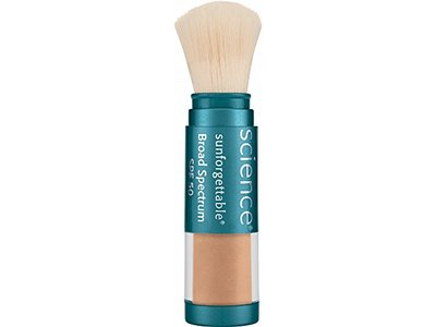 Colorescience Sunforgettable Brush-on Sunscreen, SPF 50, Tan, 0.21 oz.