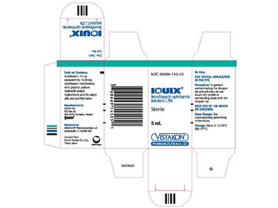 Iquix Ophthalmic Solution 1.5% (RX), Santen, Inc. - Image 1