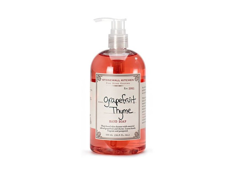 Stonewall Kitchen Grapefruit Thyme Hand Soap, 16.9 Ounce Bottle