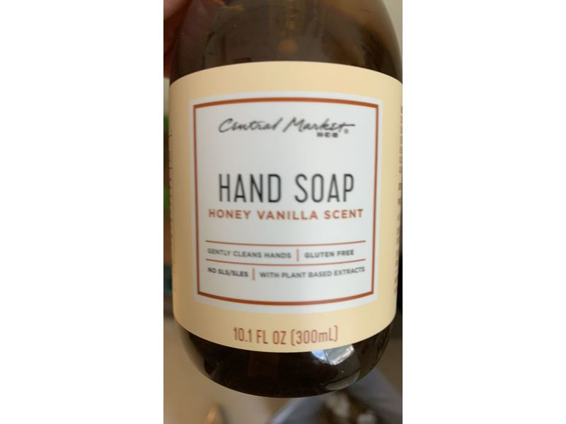 Central Market Hand Soap, Honey Vanilla Scent, 10.1 fl oz (300 mL)