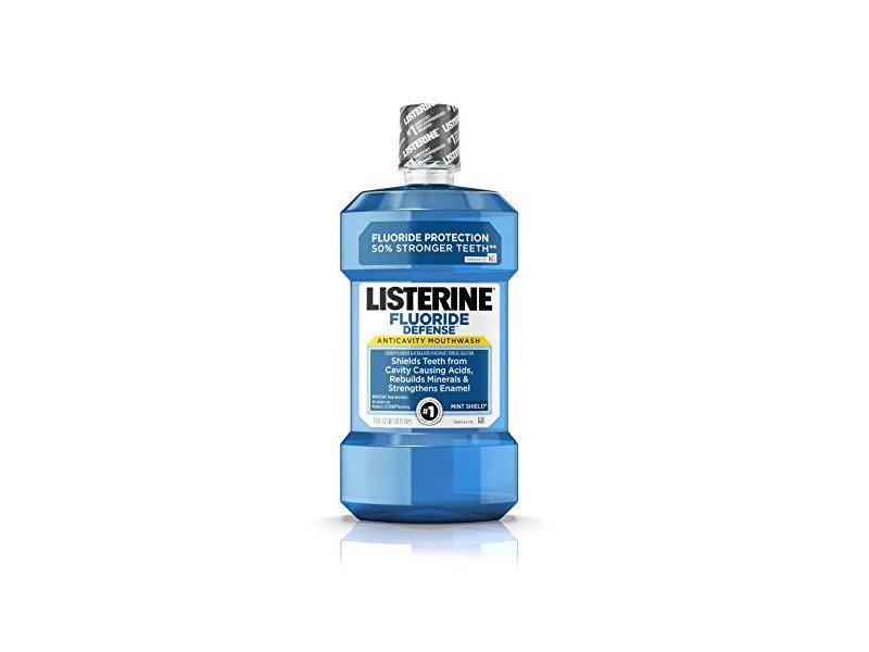 Listerine Fluoride Defense Anticavity Mouthwash, Mint Shield, 1.0 L