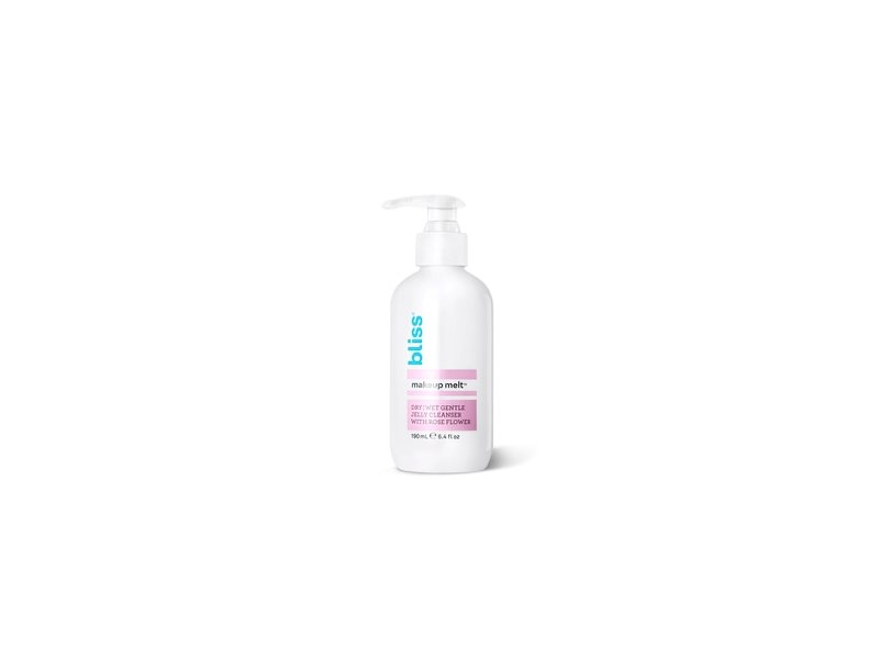 Bliss Makeup Melt Cleanser: Dry/Wet Gentle Jelly Cleanser With Rose Flower