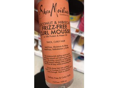 Shea Moisture Frizz-Free Curl Mousse, Coconut & Hibiscus, 7.5 fl oz (Pack of 2) - Image 4