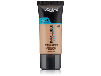 L'Oreal Paris Infallible Pro-Glow Foundation, Sun Beige, 1 Fluid Ounce