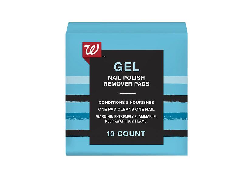 Walgreens Gel Nail Polish Remover Pads, 10 pads