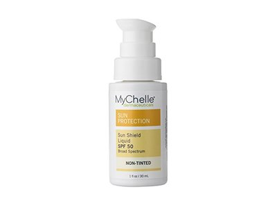 MyChelle Dermaceuticals Sun Shield Liquid Tint SPF 50, Non-Tinted, 1 Ounce - Image 1