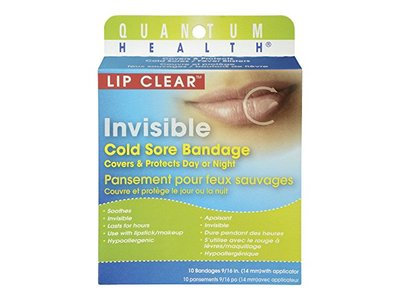 Quantum Health Lip Clear Invisible Cold Sore Bandage, 12 Count - Image 1