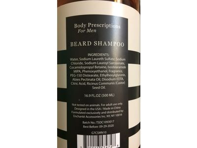 Body Prescriptions For Men Beard Shampoo, Cedar Pine, 16.9 fl oz - Image 5
