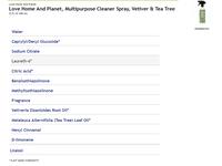 Love Home & Planet Multipurpose Cleaner Spray, Vetiver & Tea Tree, 23 fl oz - Image 5