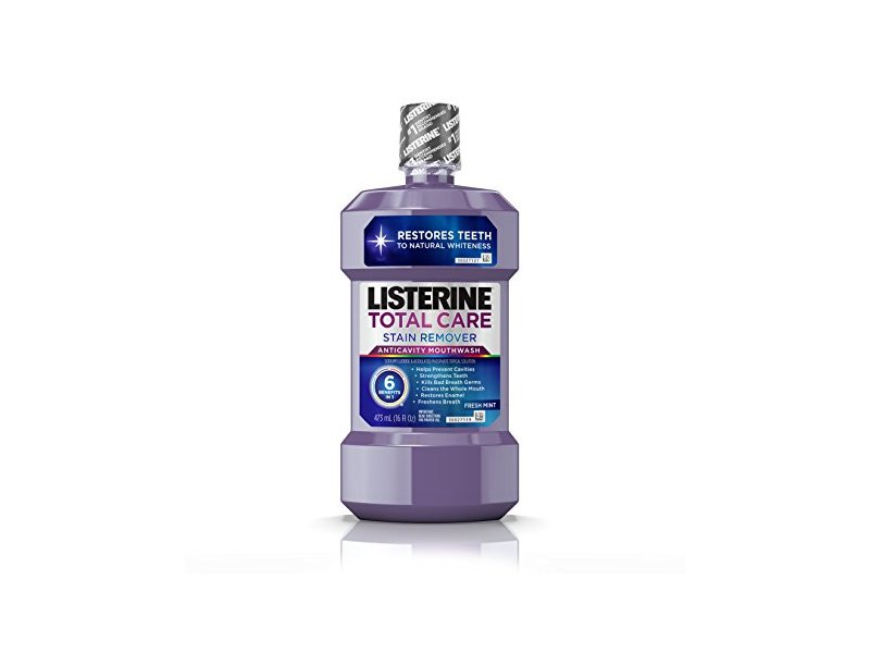 Listerine Total Care Stain Remover Anti-cavity Mouthwash, Fresh Mint, 16 fl oz