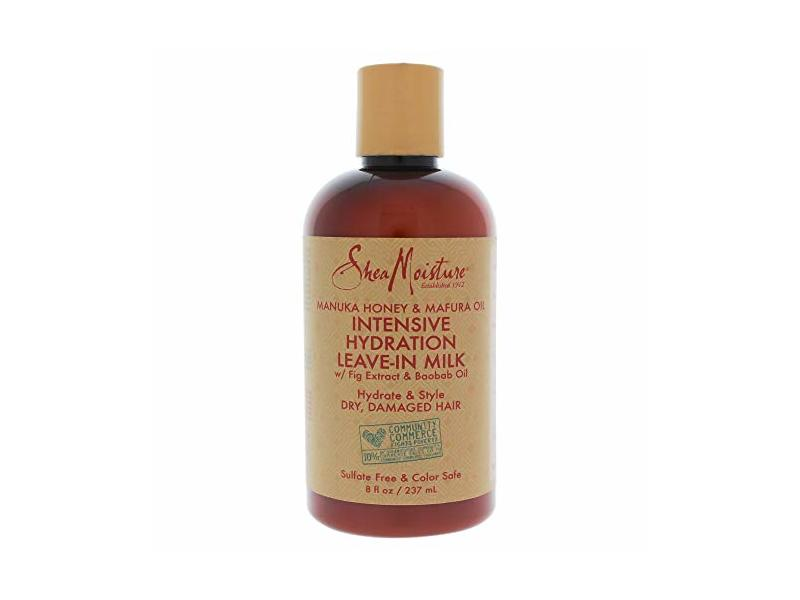 Shea Moisture Manuka Honey and Mafura Oil Intensive Hydration Leave-In Milk for Unisex, 8 Ounce