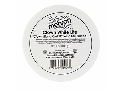 Mehron Makeup Clown White Lite, Clown Blanc Clair, 7 oz - Image 1
